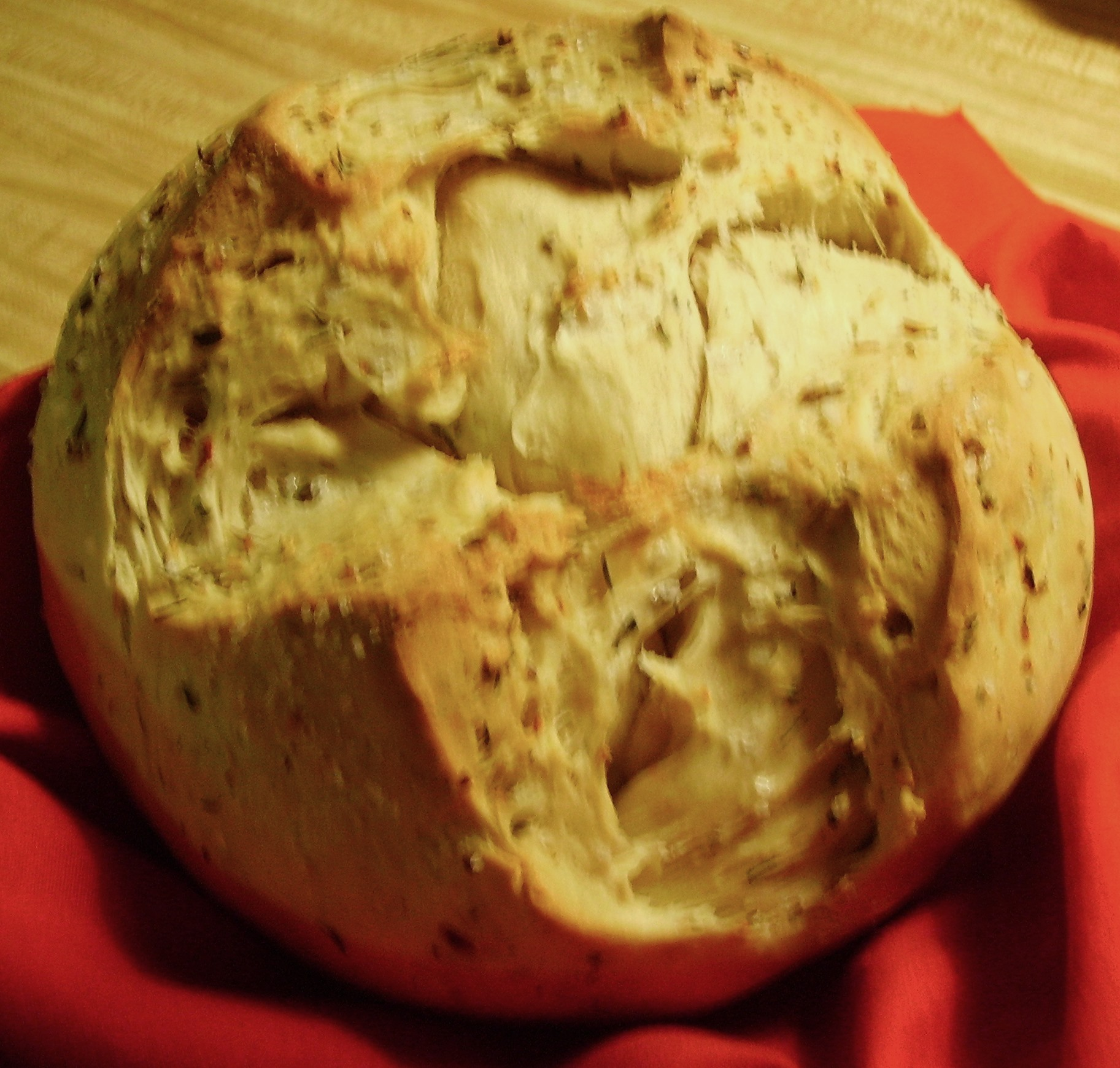 Spicy Garlic & Herb Bread Baked in a Pot | Mama D's Kitchen of Love